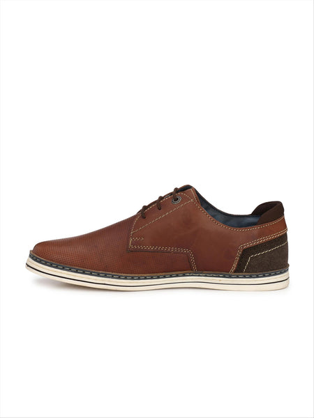 Banish Men's Brown Genuine Leather Casual Shoes