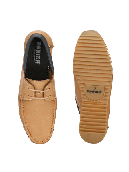 Banish Men's Teak Genuine Leather Boat Casual Shoes