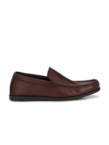 CHERRY BROWN CASUAL COMFORT LEATEHR SHOES FOR MEN