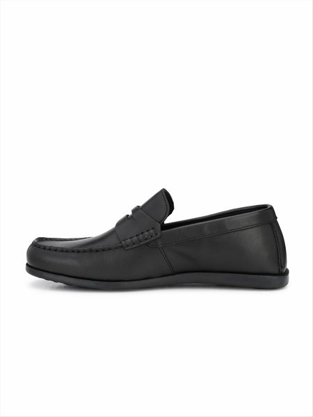 Banish Men's Black Genuine Leather Casual Loafer