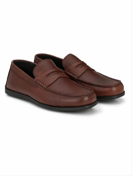 Banish Men's Brown Genuine Leather Casual Loafer