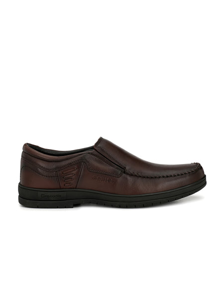 BROWN LEATHER CORPORATE CASUALS FOR MEN