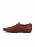 TAN LEATHER COMFORT LOAFERS FOR MEN