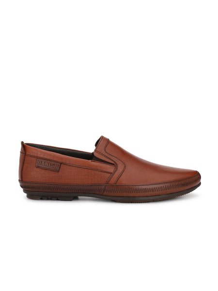 TAN DESIGNER LEATHER LOAFERS