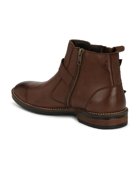 BROWN ADVENTURE LEATHER BOOTS
