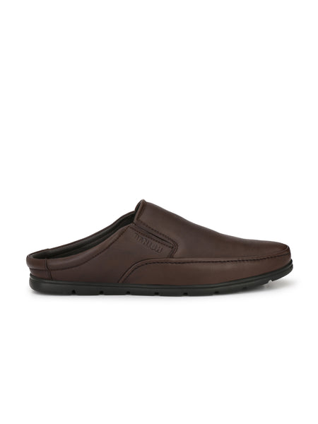 Banish Men's Brown Genuine Leather Casual Mules