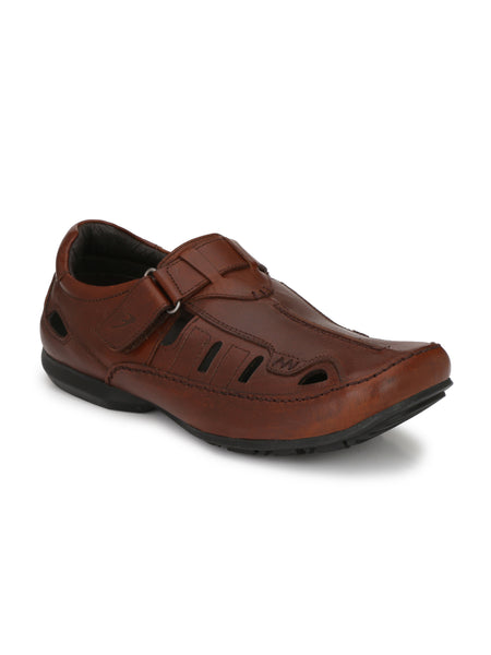 Banish Men's Brown Genuine Leather Sandals