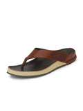 Banish Men's Tan Genuine Leather Slippers