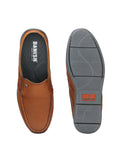 Banish Men's Tan Genuine Leather Casual Mules