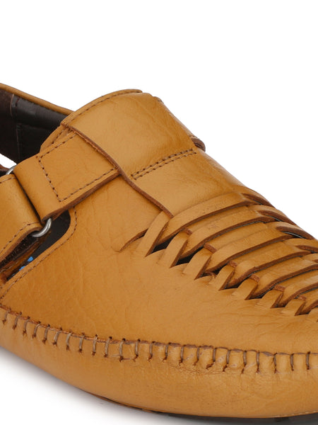 Banish Men's Tan Genuine Leather Sandals