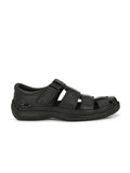 Banish Men's Black Genuine Leather Sandals