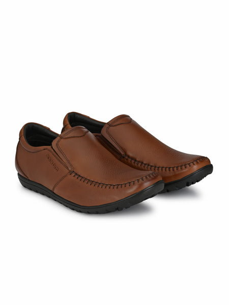 Banish Men's Genuine Leather Extra Comfort Casual Office Moccassin
