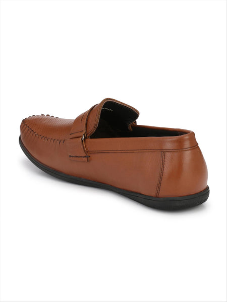Banish Men's Tan Genuine Leather Casual Loafer