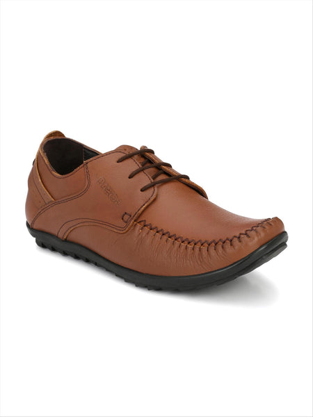 Banish Men's Tan Genuine Leather Casual Shoes