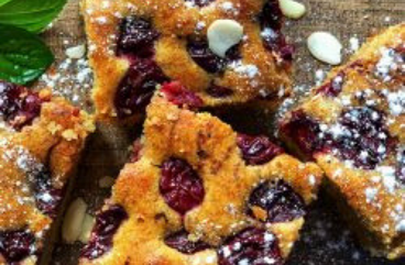 Cherry Protein Flaxseed Cakes