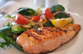 Fillet of Salmon with Pumpkin Oil Side Salad