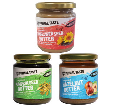 Organic Nut Butters (3x250g) - hazelnut, pumpkin and sunflower