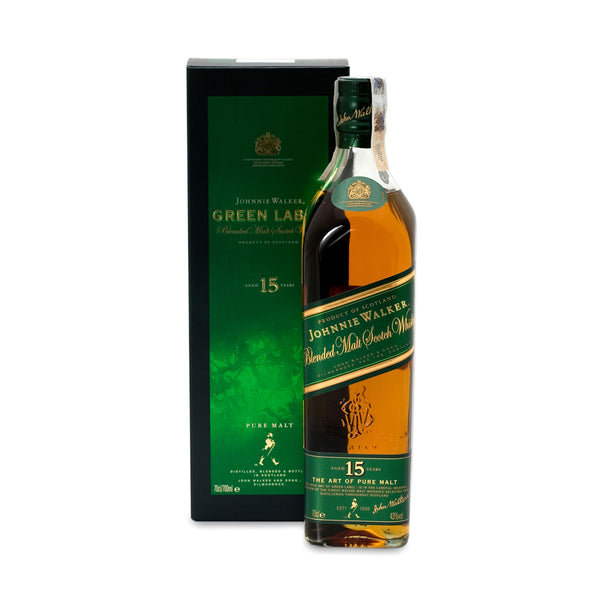 Johnnie Walker Green Label 15-Year Blended Malt Scotch Whisky - 750 ml