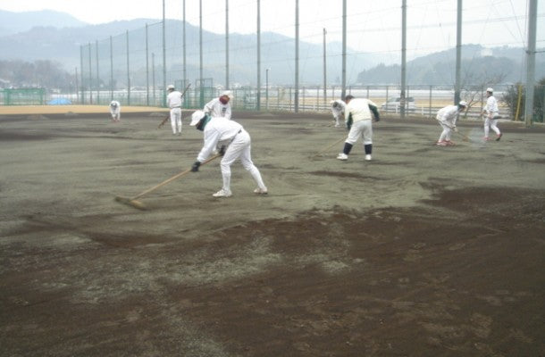 Kumamoto Prefectural Uto High School ground maintenance, ball park dot com