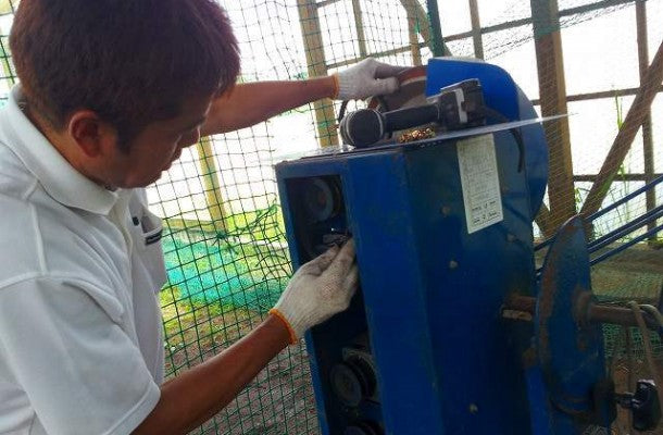 Pitching machine maintenance