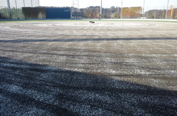 Ground maintenance and calcium chloride