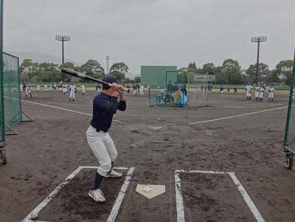 Katsumi Hirosawa Batting Class Slow Ball Machine Batting Practice