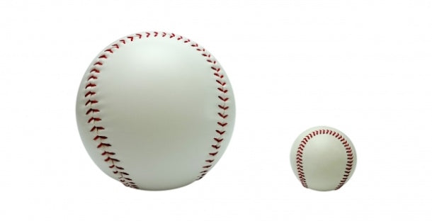 Sign ball size comparison