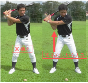 Low ball swing ①