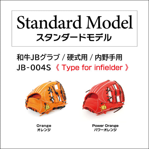 【Limited edition: Chocolate lace】Wagyu JB glove/Hard ball/Infielder/JB-004S