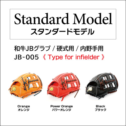 【Limited edition: Chocolate lace】Wagyu JB glove/Hard ball/Infielder/JB-005