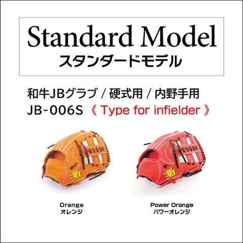 【Limited edition: Chocolate lace】Wagyu JB glove/Hard ball/Infielder/JB-006S
