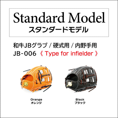 【Limited edition: Chocolate lace】Wagyu JB glove/Hard ball/Infielder/JB-006