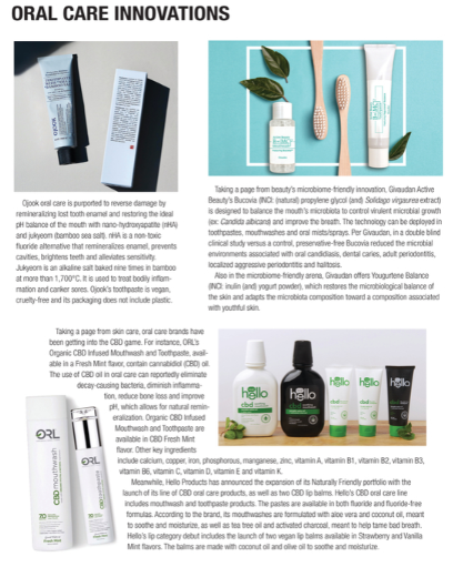 Global Cosmetic Industry Magazine - ORL oral care innovations