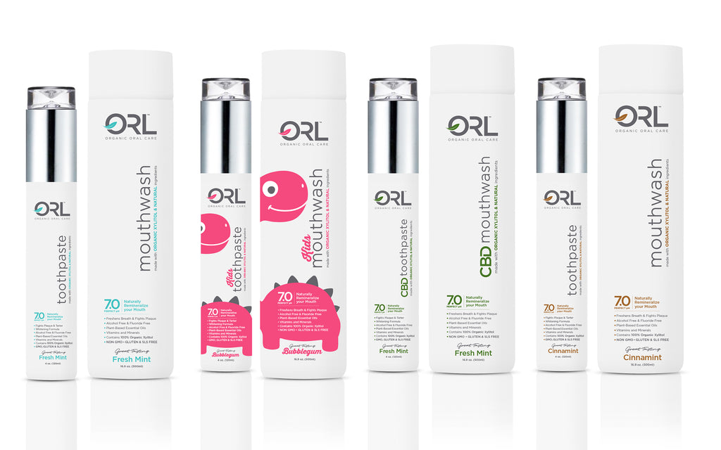 ORL Labs Selection of Toothpaste and Mouthwash with Organic Xylitol