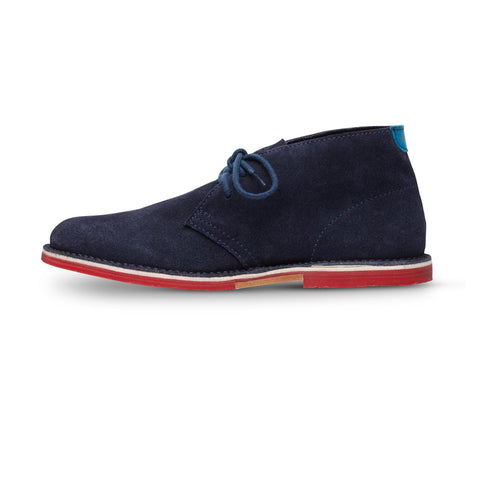 Men's Navy Chukka: Featured Product Image