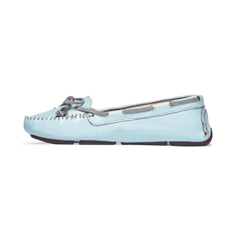 Women's Sky Blue Moccasin: Featured Product Image