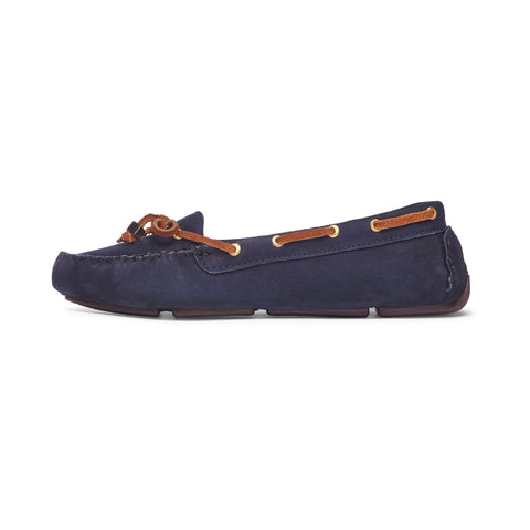 Women's Navy Moccasin: Featured Product Image