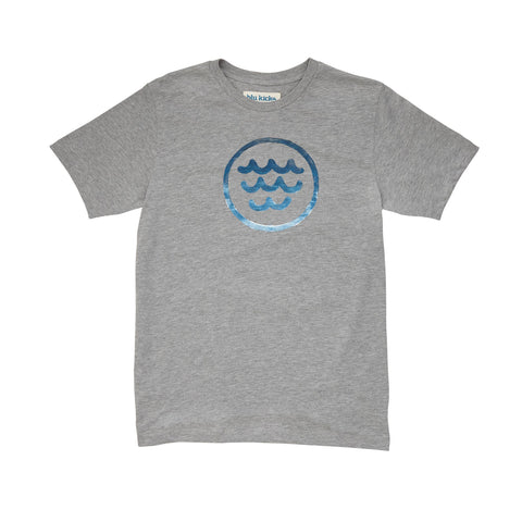 Gray Wave Tee: Featured Product Image