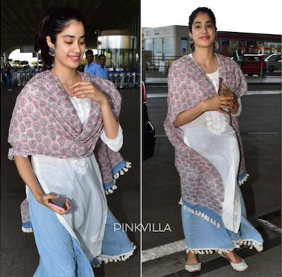 Janhvi Kapoor In Sahira Suit Set - Set of 3