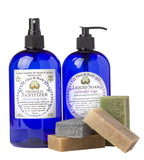Hygiene Set, Sanitizer, Mint Citrus Liquid Soap, Soap Sampler Set