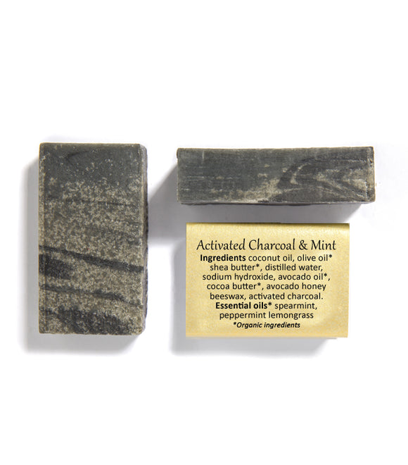 Soap - Bath Bar, Activated Charcoal Mint