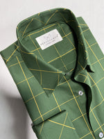 olive green formal shirt by Personamen