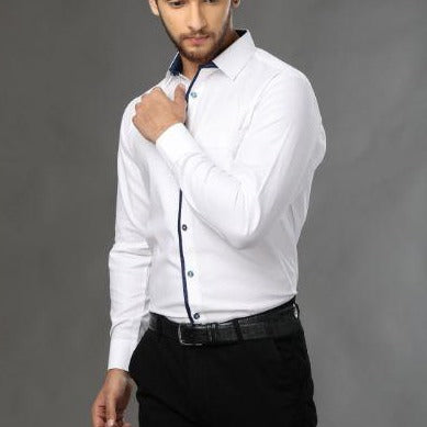 Designer shirt crafted from premium cotton, a evening wear shirt