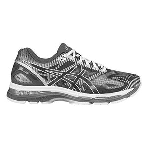 ASICS Men's Gel-Nimbus 19 Running Shoe, Carbon/White/Silver, 10.5 M US