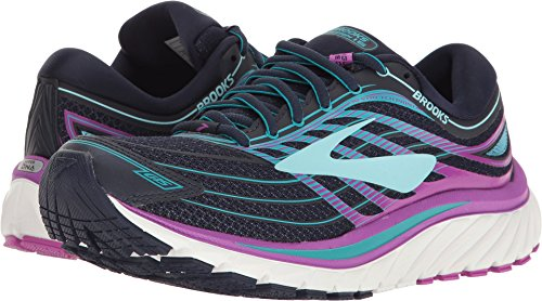 Brooks Women's Glycerin 15 Evening Blue/Purple Cactus Flower/Teal Victory 9 D US