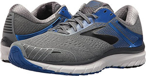 Brooks Men's Adrenaline GTS 18 Grey/Blue/Black 13 D US