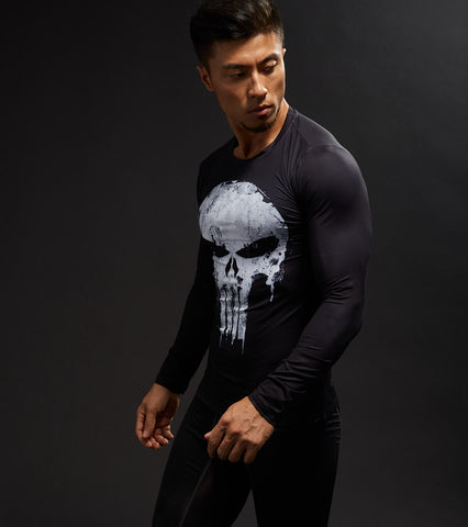 PUNISHER COMPRESSION SHIRT LONG SLEEVE
