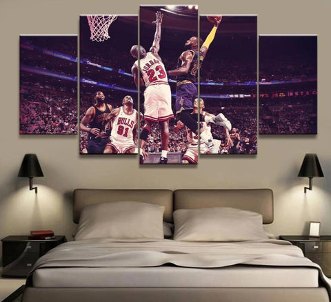 Lebron James, Michael Jordan, James Canvas