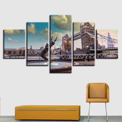 london wall art, london canvas art black and white