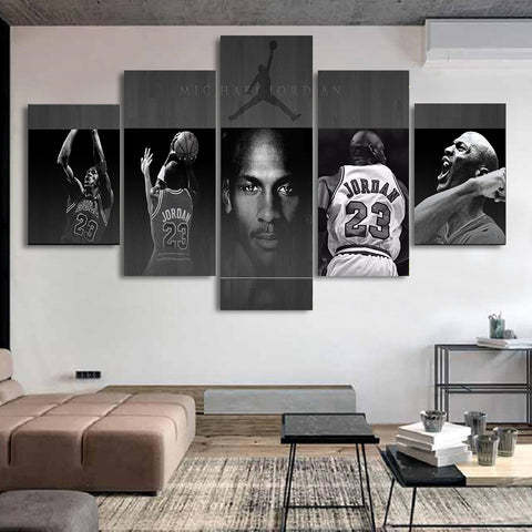 5 Piece Michael Jordan 3 Wall Art Canvas